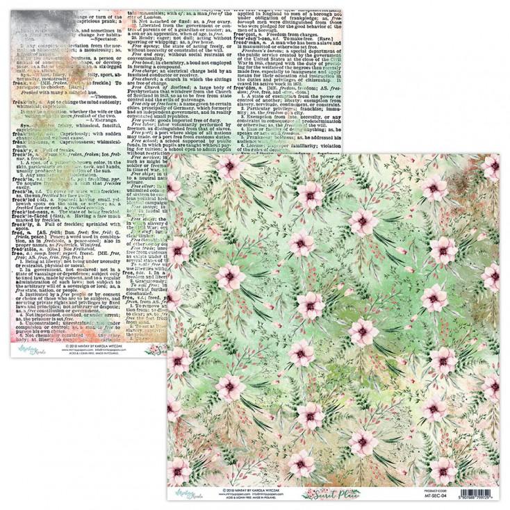 Scrapbooking paper - Mintay Papers - Secret Place 04