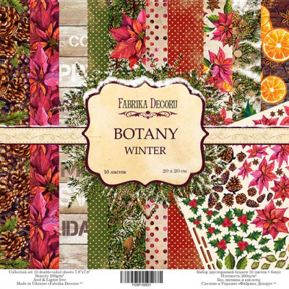 Set of scrapbooking papers 20 x 20 - Fabrika Decoru - Botany Winter