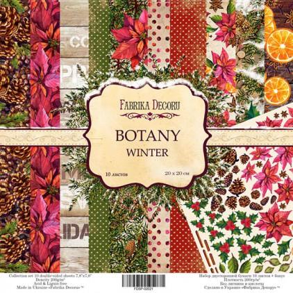Zestaw papierów do tworzenia kartek i scrapbookingu 20 x 20 - Fabrika Decoru - Botany Winter