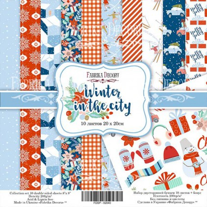 Set of scrapbooking papers 20 x 20 - Fabrika Decoru - Winter in the city