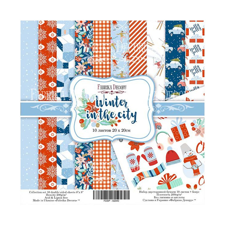 Set of scrapbooking papers - Fabrika Decoru - Winter in the city