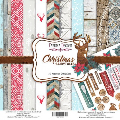 Set of scrapbooking papers 20 x 20 - Fabrika Decoru - Christmas fairytales