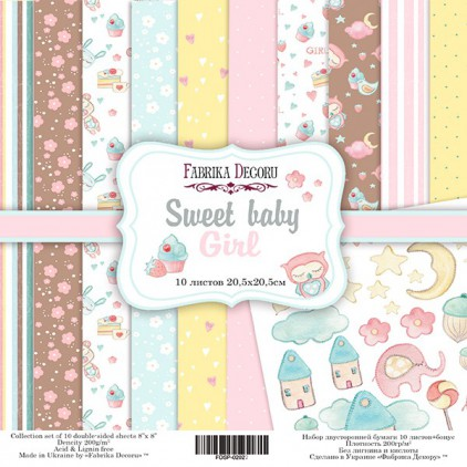 Set of scrapbooking papers 20 x 20 - Fabrika Decoru - Sweet Baby Girl