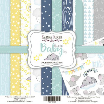 Set of scrapbooking papers - Fabrika Decoru 20 x 20 - My Little Baby Boy