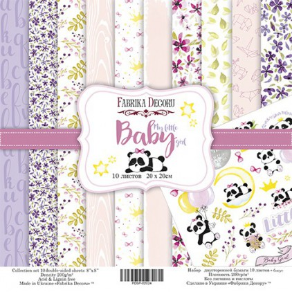 Set of scrapbooking papers 20 x 20- Fabrika Decoru - My Little Baby Girl