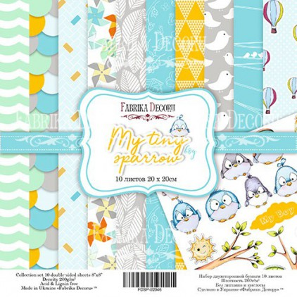 Set of scrapbooking papers 20 x 20 - Fabrika Decoru - My tiny sparrow boy