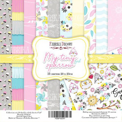 Set of scrapbooking papers 20 x 20 - Fabrika Decoru - My tiny sparrow girl