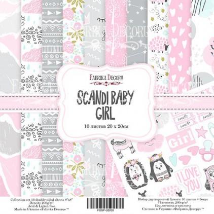 Zestaw papierów do tworzenia kartek i scrapbookingu  20 x 20 - Fabrika Decoru - Scandi Baby Girl