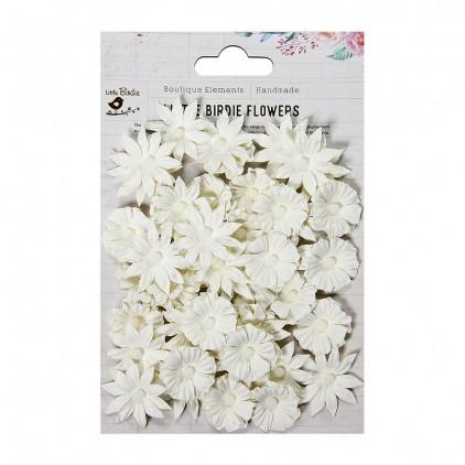 Papierowe kwiaty do rękodzieła - Little Birdie - Valerie Snow  - 48 kwiatków