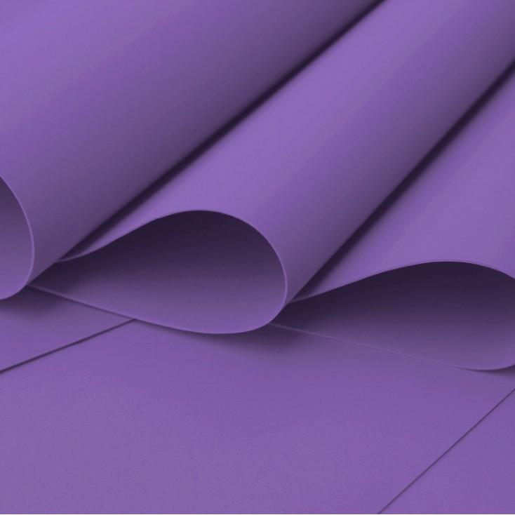 Silk foam, foamiran, artistic foam - 0,6 mm - blueberry