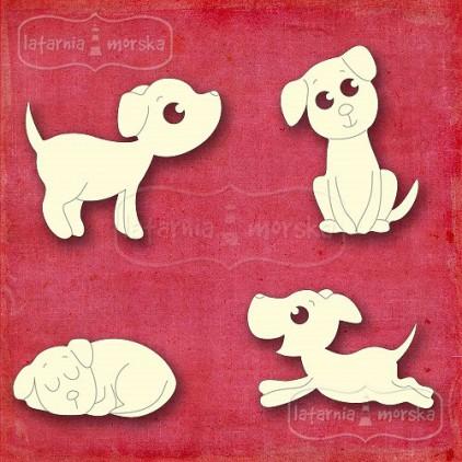 Latarnia Morska - Cardboard element - Kitten and dog -dog silhouettes
