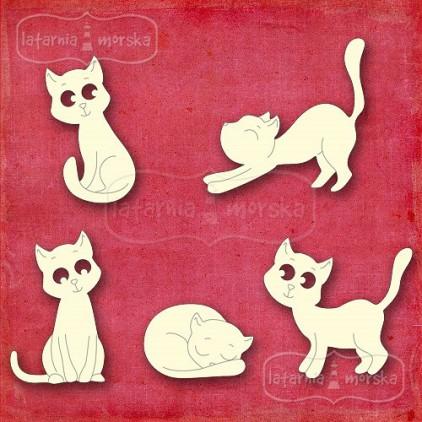 Latarnia Morska - Cardboard element - Kitten and dog -cat silhouettes