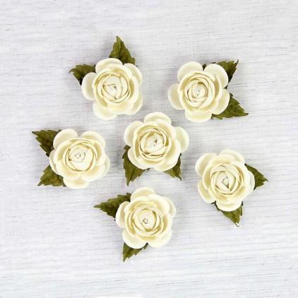 Paper flower set - Little Birdie - Sharon Celeste - 6 flowers