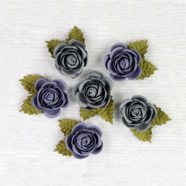 Papierowe kwiaty do rękodzieła - Little Birdie - Sharon Troppical Starburst - 6 kwiatków