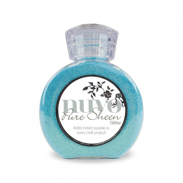Nuvo Pure Sheen Glitter - Powdered glitter-Aqua