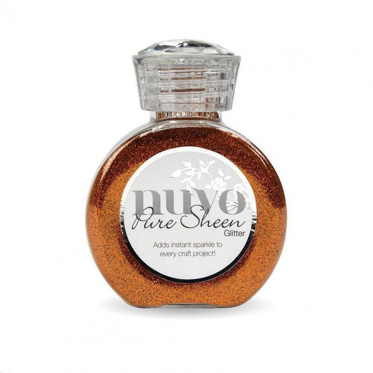 Nuvo Pure Sheen Glitter - Powdered glitter - Spiced Apricot
