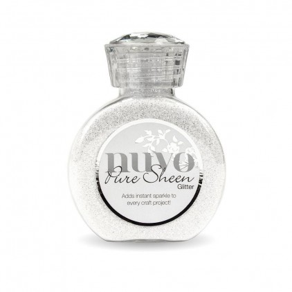 Nuvo Pure Sheen Glitter - Brokat sypki - Ice White