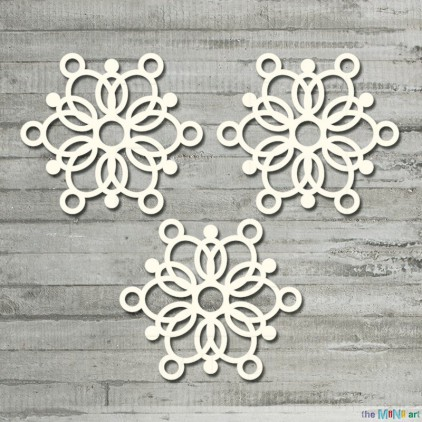 the MiNi art - Cardboard element - Winter Time - a set of snowflakes