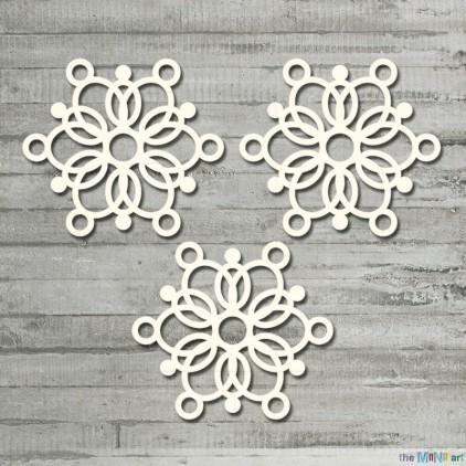 the MiNi art - tekturka - Winter Time - zestaw śnieżynek