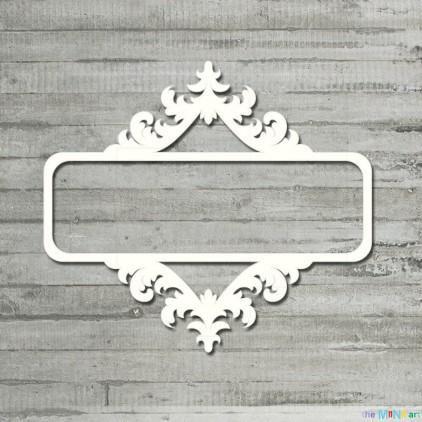 the MiNi art - Cardboard element - Rectangular frame vintage 2 - L