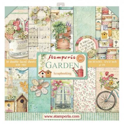 Zestaw papierów do tworzenia kartek i scrapbookingu  - Stamperia - Garden