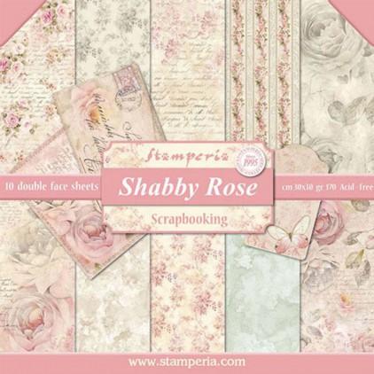 Zestaw papierów do tworzenia kartek i scrapbookingu - Stamperia - Shabby Rose
