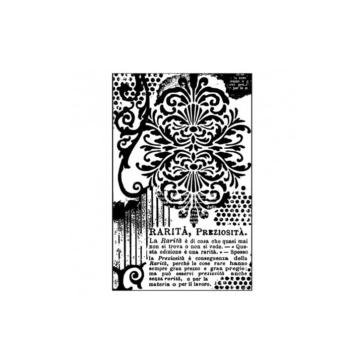 Rubber stamp - Stamperia - Decoration with writings
