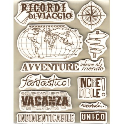 Set of clear stamps - Stamperia - Souvenirs