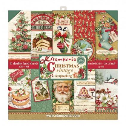 Stamperia - Set of scrapbooking papers - Christmas Vintage
