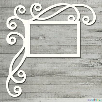 the MiNi art - Cardboard element - Frame with curls M