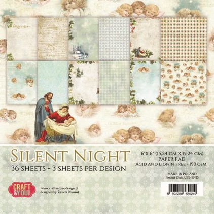 Scrapbooking paper pad - Craft and You Design - Silent Night