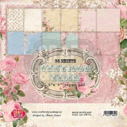 Craft and You Design - Pad of scrapbooking papers - Vintage Time