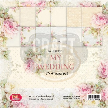 Craft and You Design - Pad of scrapbooking papers - My Wedding