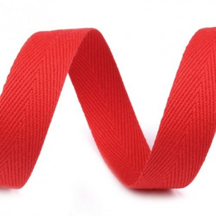 Cotton trim - 14mm - 1 meter - Red