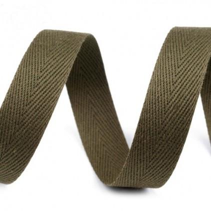 Cotton trim - width 14mm - 1 meter - Olive