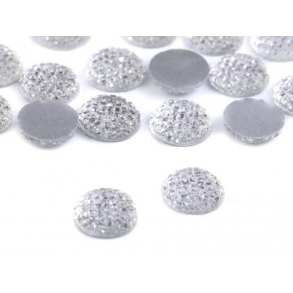 Szlifowane kamyczki, kaboszon, środki do kwiatków 1,2 cm - płaskie