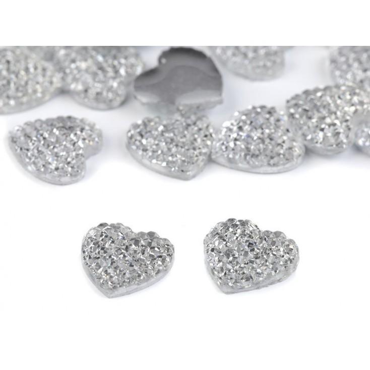 Honed heart, cabochon, pebbles - 1,0 cm