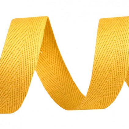 Cotton trim - width 16mm - 1 meter - Dark yellow
