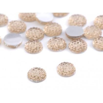 Szlifowane kamyczki, kaboszon, środki do kwiatków 0,8 cm - szampański
