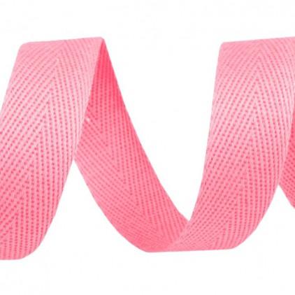Taśma bawełniana - szerokość 14mm - 1 metr - Różowa
