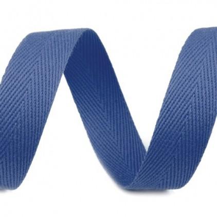 Taśma bawełniana - szerokość 16mm - 1 metr - Niebieska
