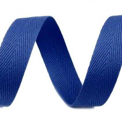 Taśma bawełniana - szerokość 16mm - 1 metr - Ciemnoniebieska