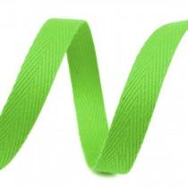 Taśma bawełniana - szerokość 1cm - 1 metr - Jasnozielona