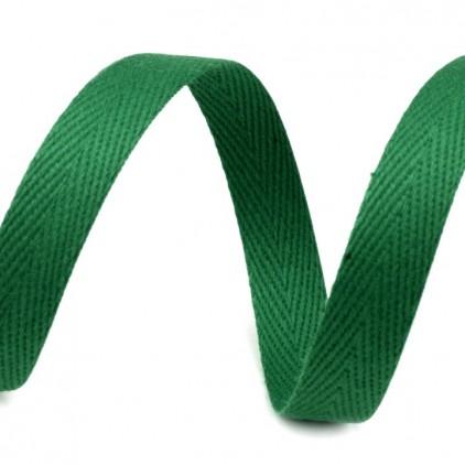 Taśma bawełniana - szerokość 1cm - 1 metr - Zielona
