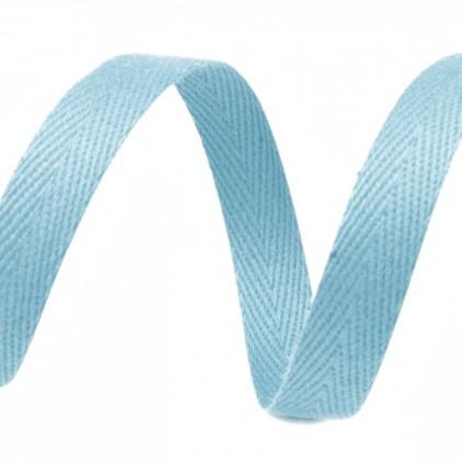 Taśma bawełniana - szerokość 1cm - 1 metr - Jasnoturkusowa
