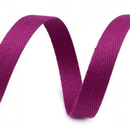 Taśma bawełniana - szerokość 1cm - 1 metr - Winogronowa