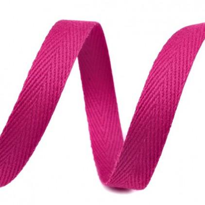 Taśma bawełniana - szerokość 1cm - 1 metr - Malinowa