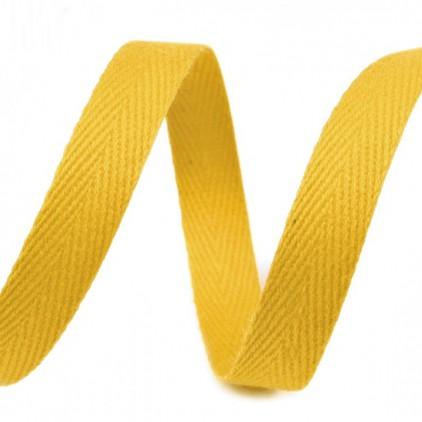 Taśma bawełniana - szerokość 1cm - 1 metr - Słonecznie żółta