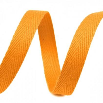 Taśma bawełniana - szerokość 1cm - 1 metr - Pomarańczowa