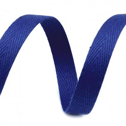 Taśma bawełniana - szerokość 1cm - 1 metr - Chabrowa